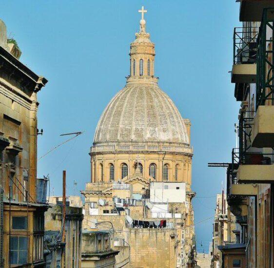 Basílica de los Carmelitas en La Valeta en Malta