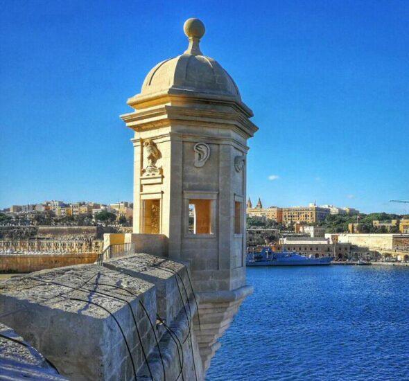 Torreón de vigía en Senglea en Malta