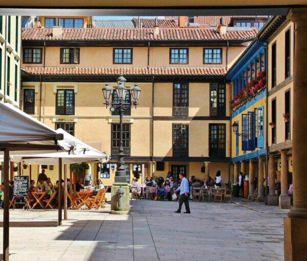 Plaza Fontán en Oviedo