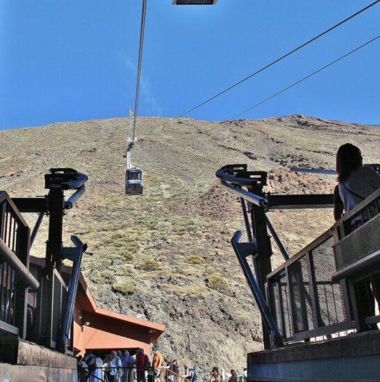 Teleférico del Teide en la isla de Tenerife en Canarias