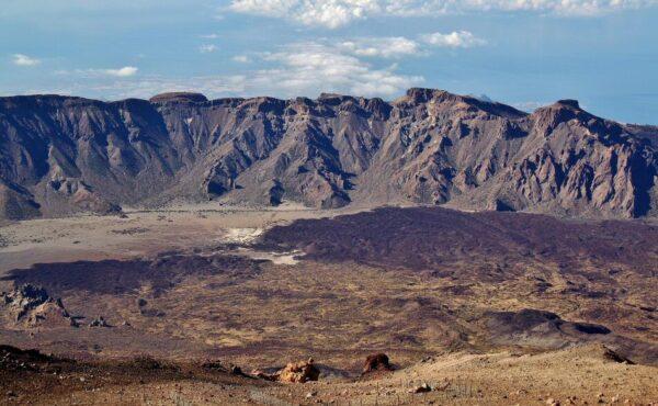 Las Cañadas del Teide en la isla de Tenerife en Canarias