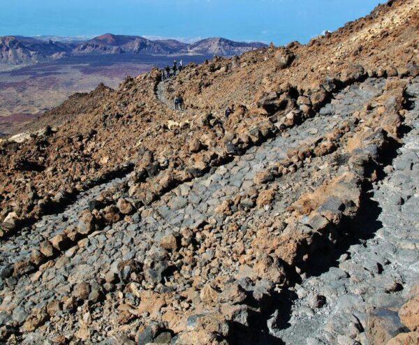 Ruta del mirador de Pico Viejo en el Teide en Tenerife
