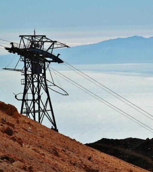 Vistas de Gran Canaria desde el Teide en Tenerife