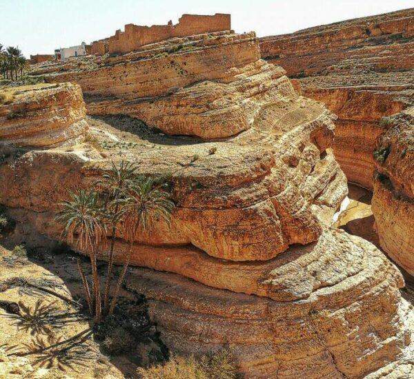 Cañón de Mides cerca de Tozeur en Túnez