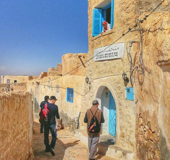 Rincón del pueblo bereber de Tamezret en Túnez