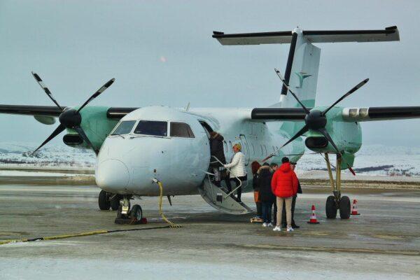 Avión de la compañía noruega Wideroe