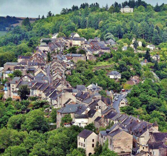 Najac en Aveyron al sur de Francia
