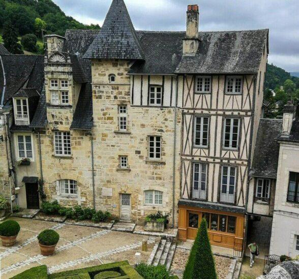 Terrasson en Perigord al suroeste de Francia