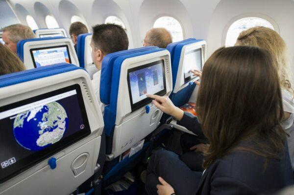 Interior de avión de KLM