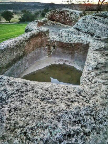 Lagar de piedra en la Bodega Costers de Sió en Lleida