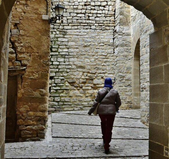 Montfalcó Murallat en Lleida en Cataluña