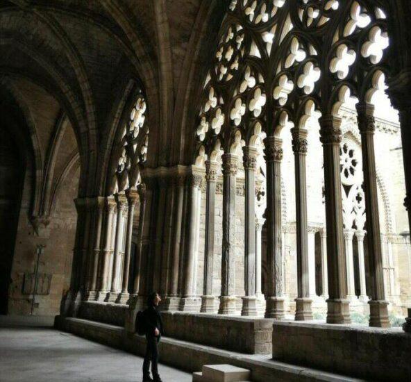 Claustro gótico en la Seu Vella de Lleida