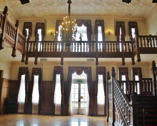 Salón Real en el palacio de la Magdalena en Santander
