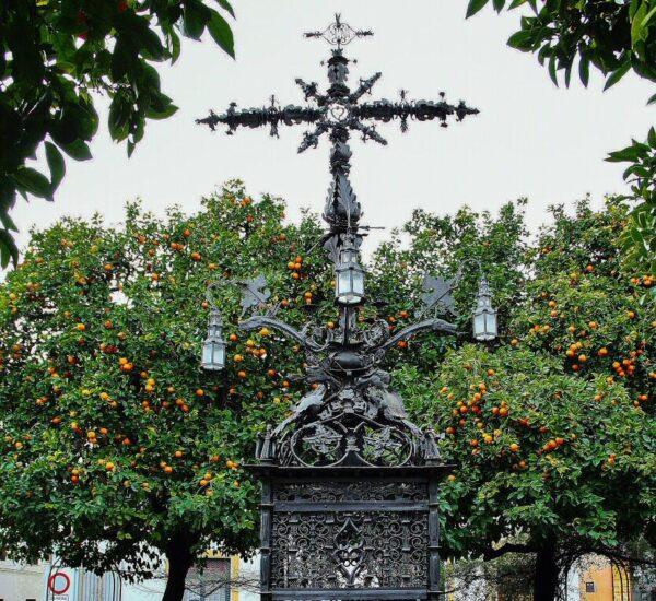 Plaza de la Santa Cruz en el Barrio de Santa Cruz de Sevilla