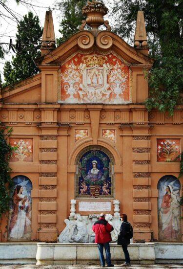 Rincón de los Jardines de Murillo en Sevilla