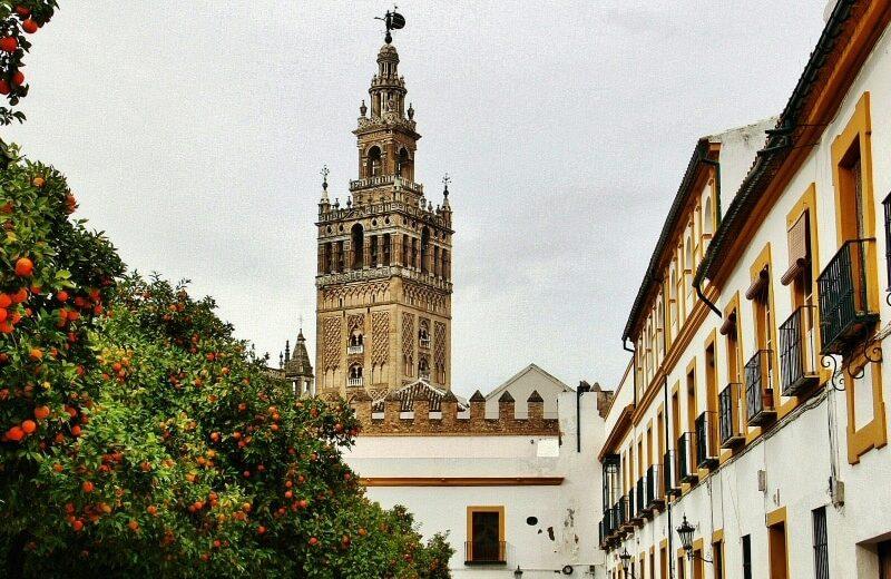 Plaza del Patio de Banderas en Sevilla