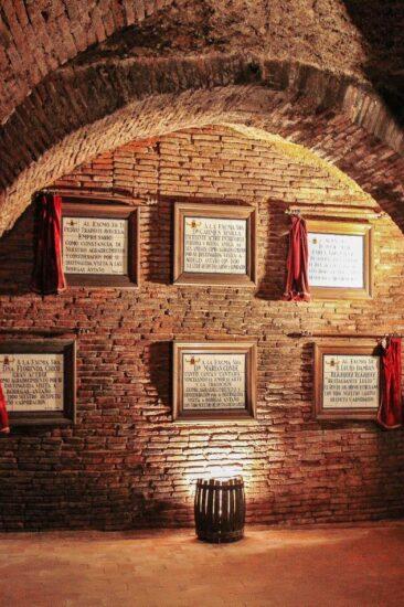 Galerías subterráneas de Bodegas Mocén en Rueda en Valladolid