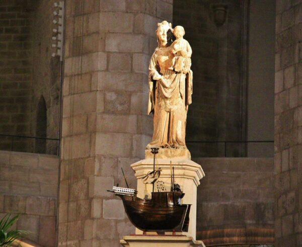Imagen de Santa María del Mar en la basílica de Barcelona