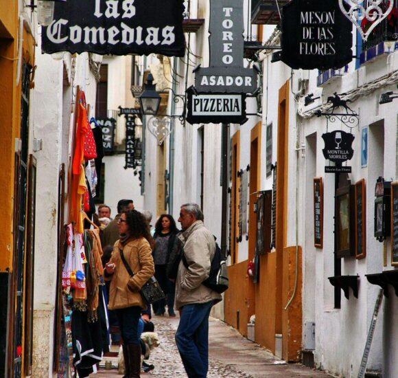 Tabernas en el Barrio de la Judería de Córdoba