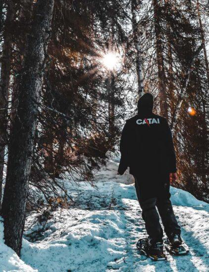 Parque nacional en Ruka en Laponia Finlandia