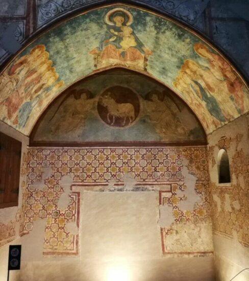 Pinturas murales en la Seu Vella de Lleida