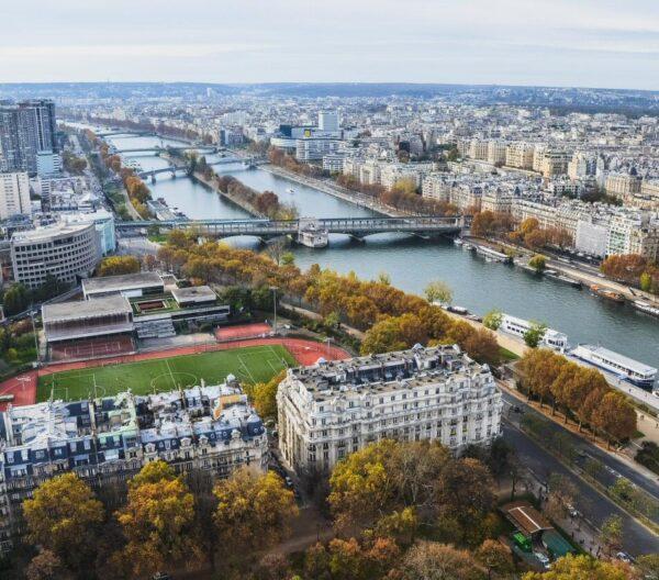 Vistas panorámicas desde la Torre Eiffel en París