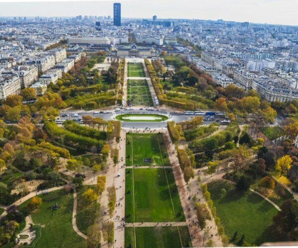 Campos de Marte desde la Torre Eiffel en París