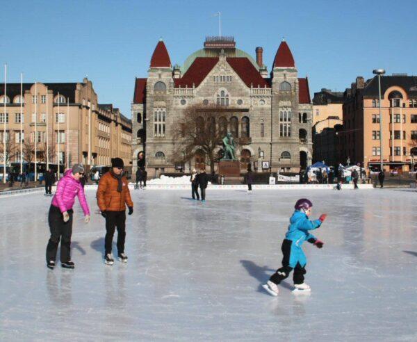 Helsinki en invierno en Finlandia