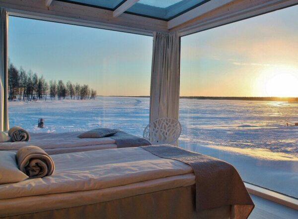Villa de Cristal en Snowcastle de Kemi en Laponia Finlandia