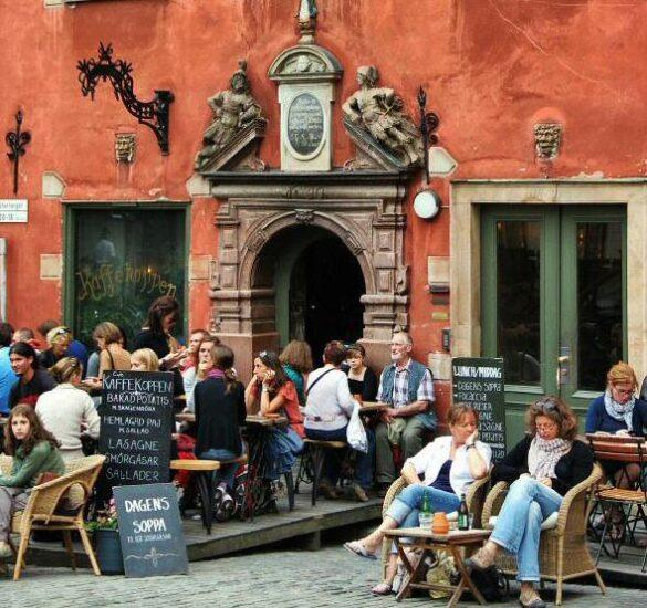 Rincón de la Ciudad Vieja Gamla Stan en Estocolmo