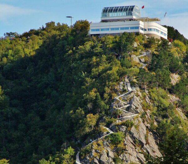 Mirador del monte Aksla en Alesund en Noruega