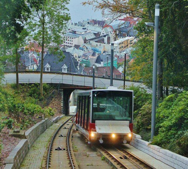 Funicular Floibanen en Bergen
