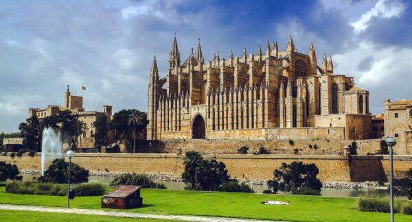 Catedral de Palma de Mallorca en las islas Baleares