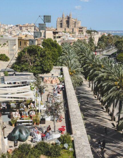 Terraza mirador de Es Baluard en Palma de Mallorca