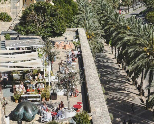 Terraza mirador de Es Baluard en Palma