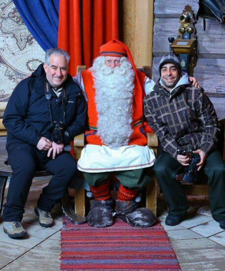 Santa Claus Village en Rovaniemi en Laponia de Finlandia