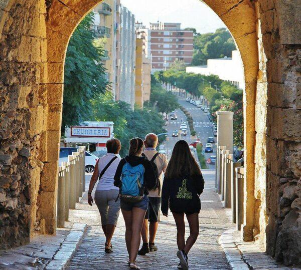 Puerta de Pallol en la muralla romana de Tarragona