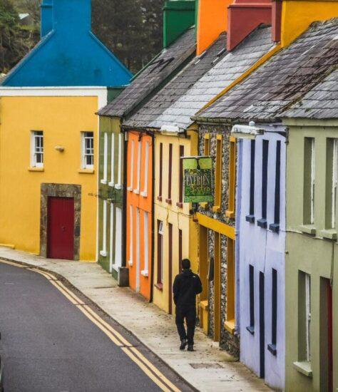 Eyeries cerca de Cork al sur de Irlanda