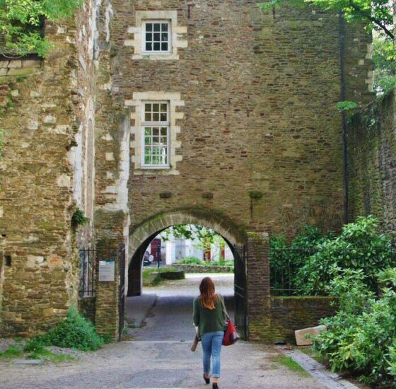 Rincón del centro histórico de Nantes