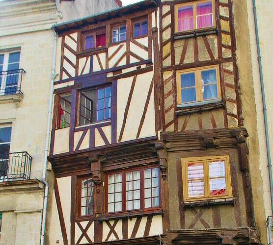 Casas entramadas en Nantes
