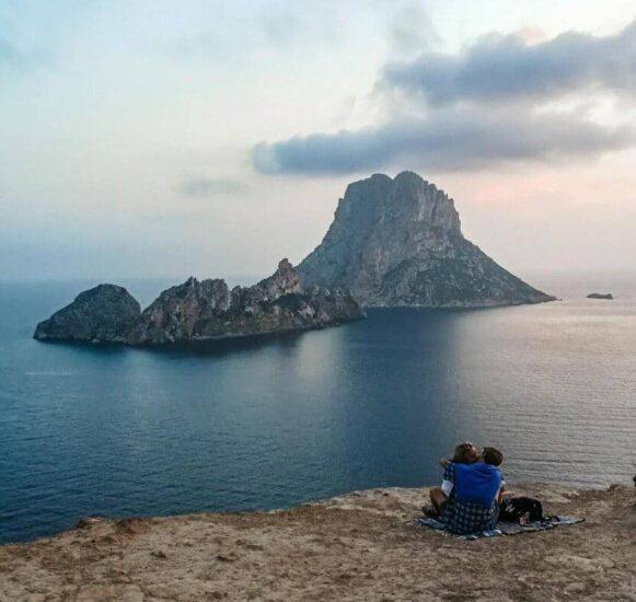 Atardecer en Es Vedra en la isla de Ibiza
