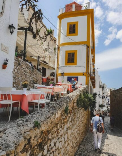 Rincón del casco histórico Dalt Vila en Ibiza