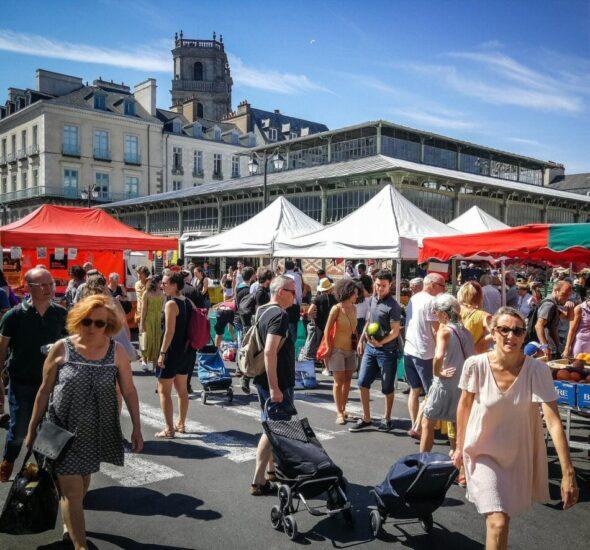 Mercado de Lices en Rennes en Bretaña Francia