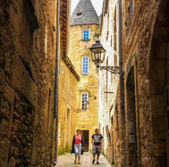 Rincón de Sarlat en Dordoña-Pèrigord al suroeste de Francia