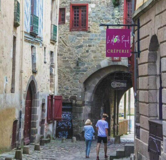 Rincón del centro histórico de Rennes