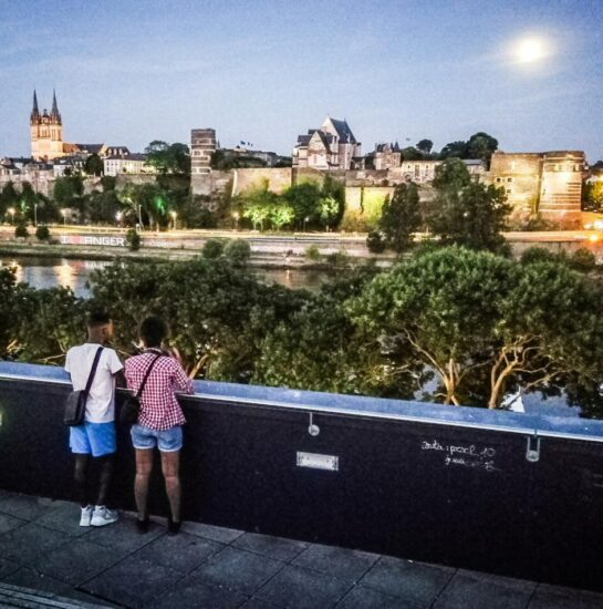 Vistas del Angers desde la terraza del restaurante La Reserve