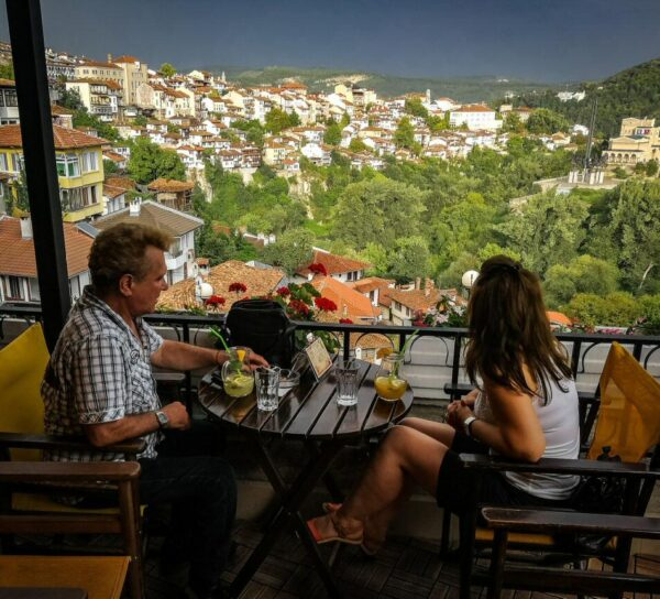 Bar mirador en Veliko Tarnovo en Bulgaria