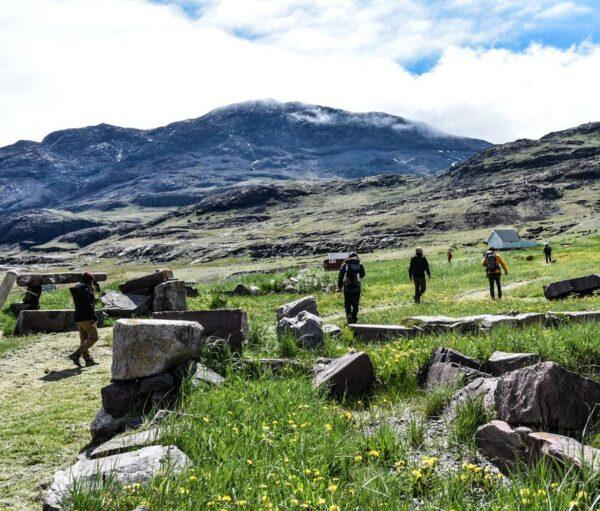 Senderismo por Igaliku en Groenlandia