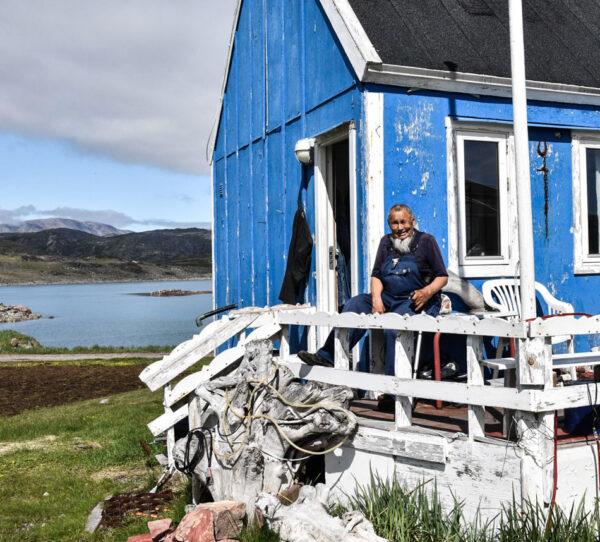Inuit en Igaliku en Groenlandia