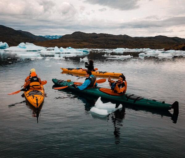 Kayak Tasiusaq en Groenlandia